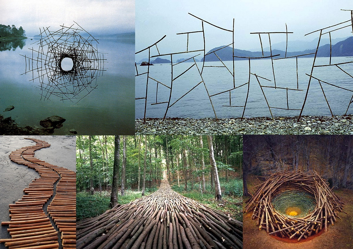 Land Art: examples of sculptures with natural elements