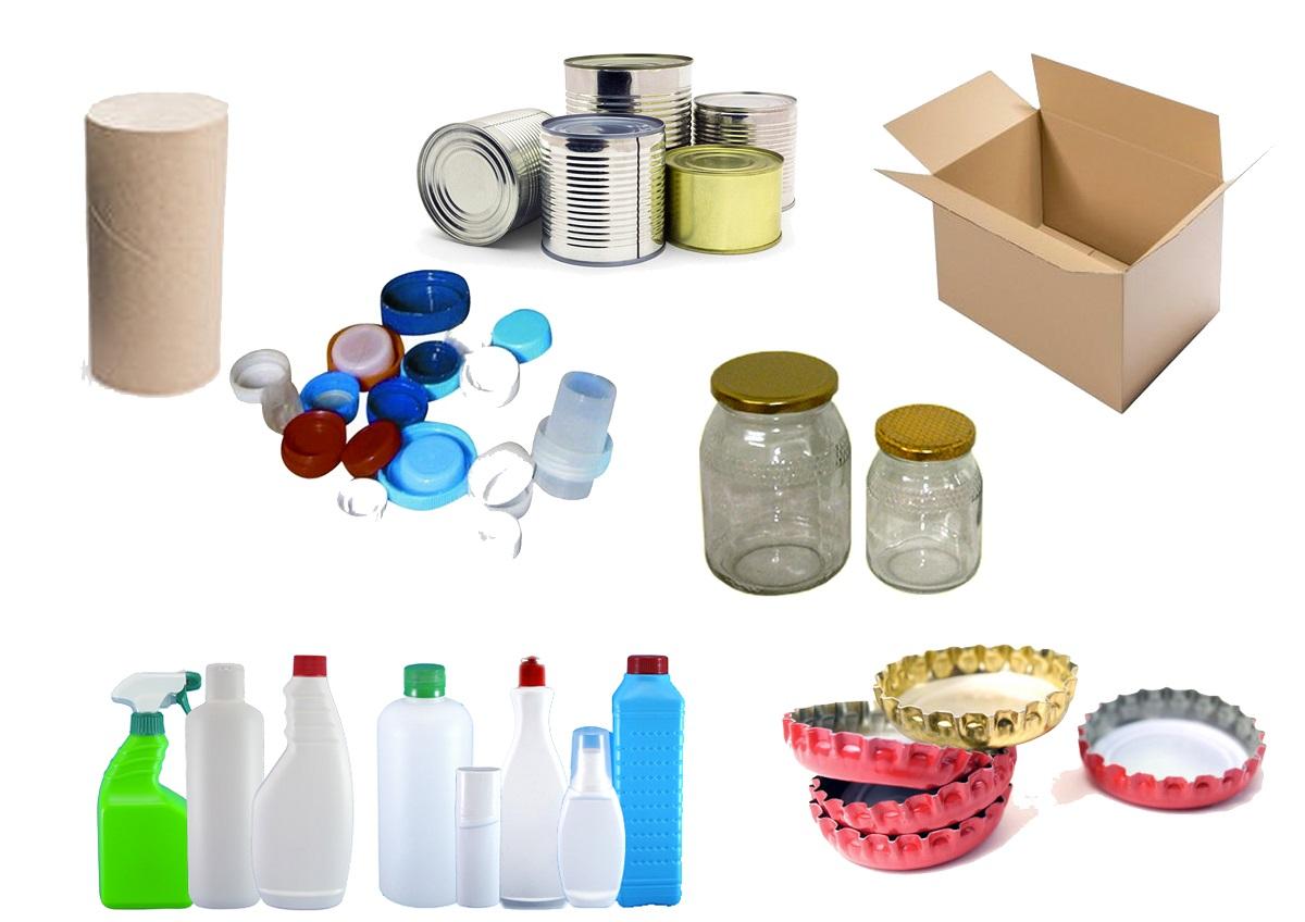 Ejemplos de materiales para manualidades de reciclaje