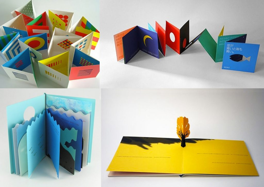 Obras de Kirigami de Katsumi Komagata