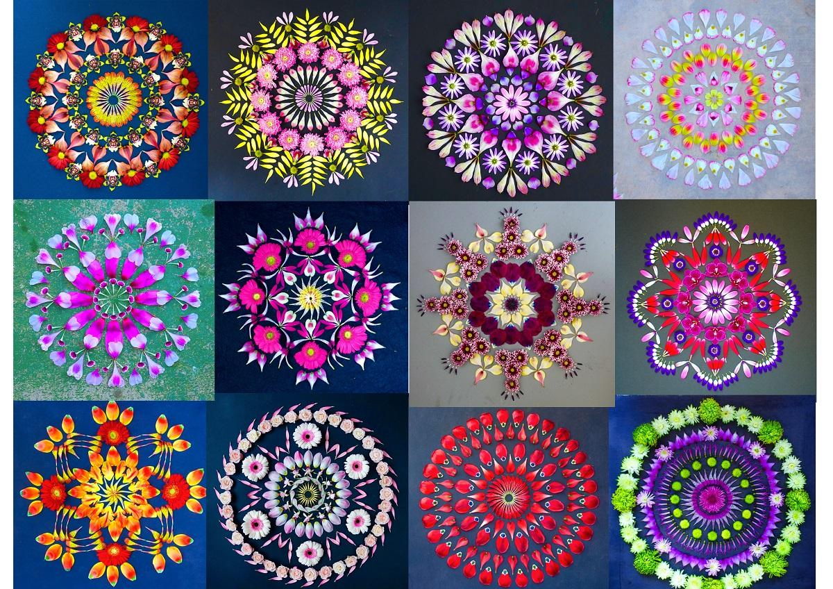 Ejemplos de Mandalas naturaleza de Kathy Klein