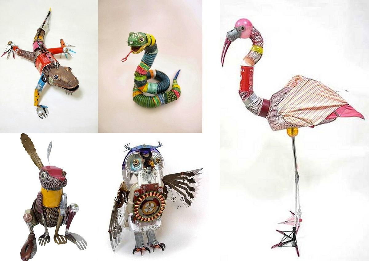 Otras obras de Natsumi Tomita de reciclaje
