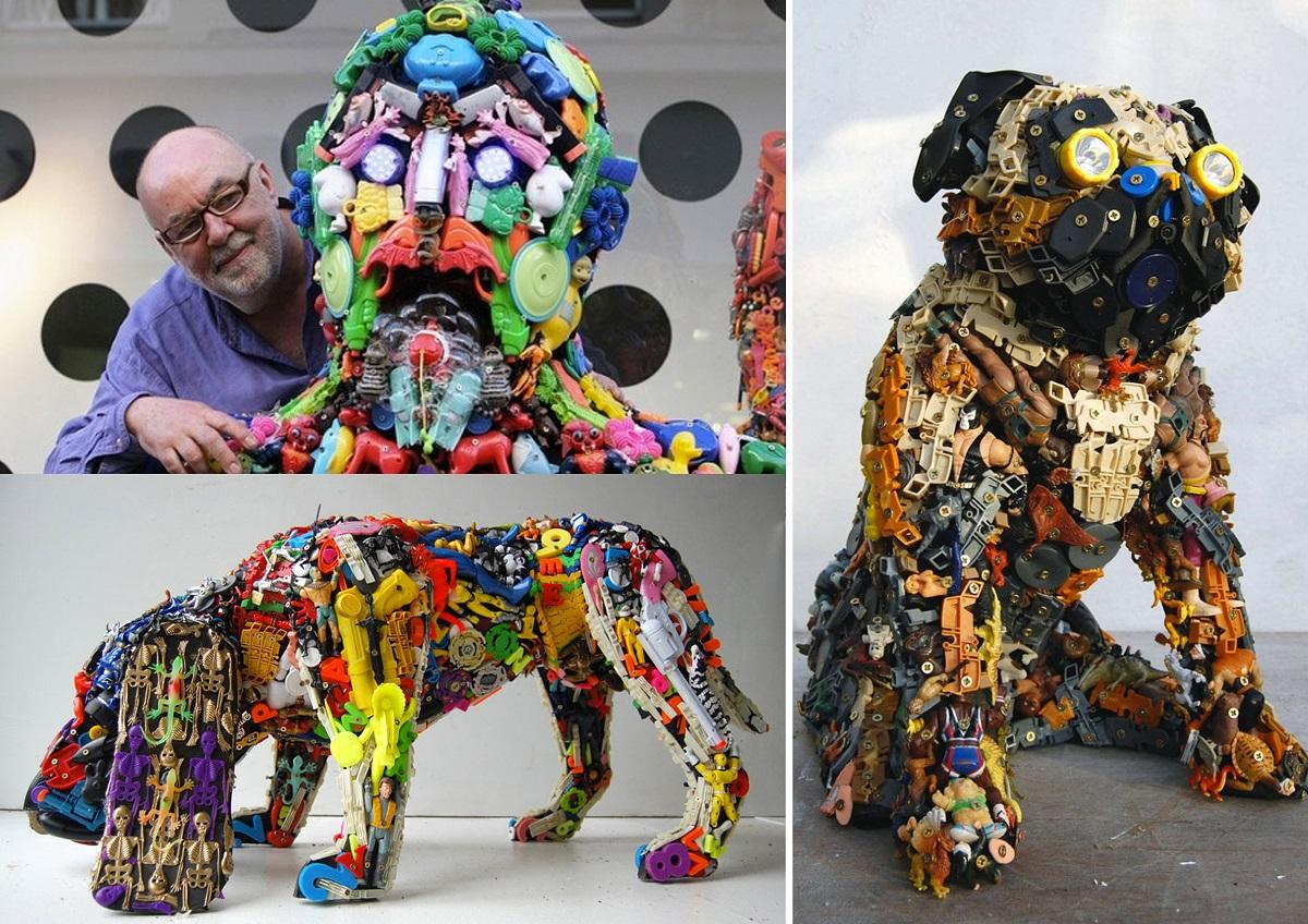 Ejemplos de obras recicladas de Robert Bradford