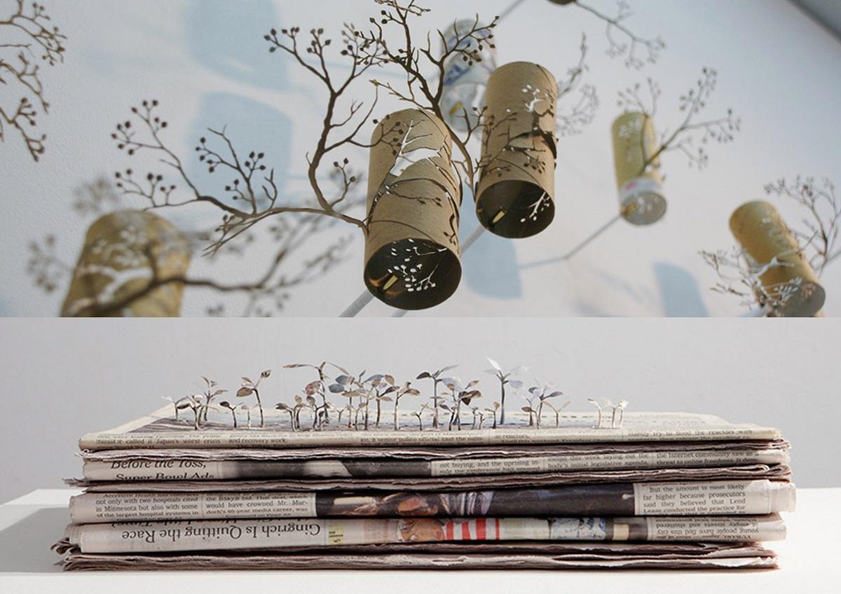Proyectos de Yuken Teruya de manualidades de reciclaje