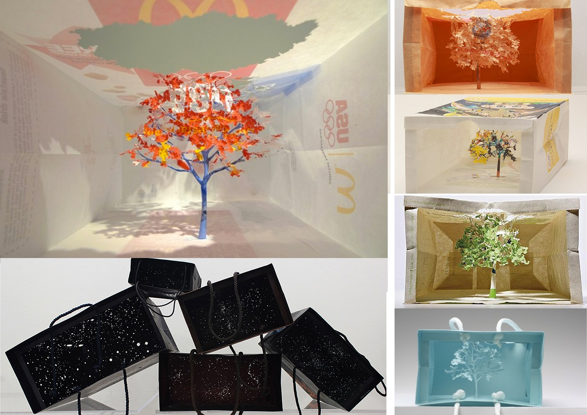 Ejemplos de proyectos de Yuken Teruya de manualidades recicladas