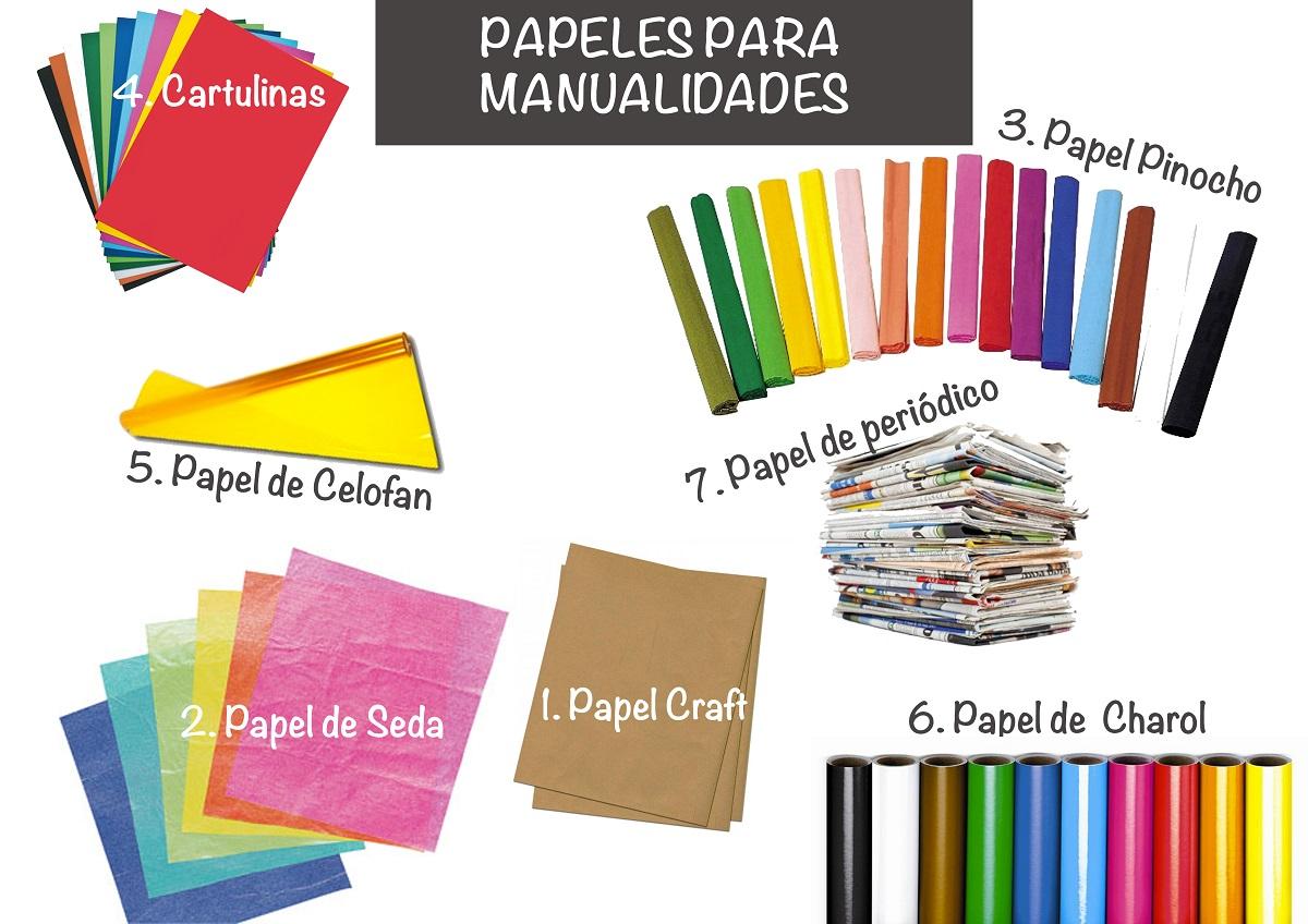 Tipos de papel para manualidades