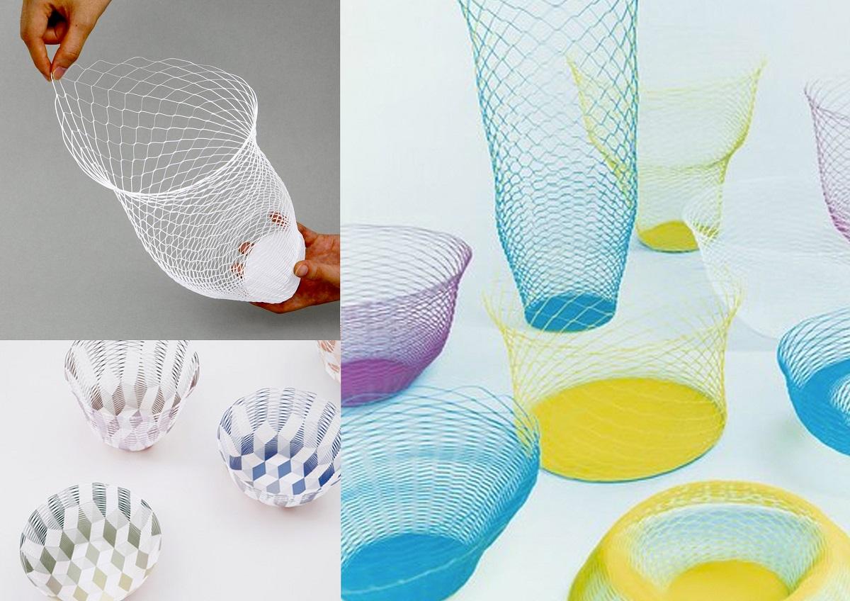 Ejemplos de manualidades de papel de Torafu Architects