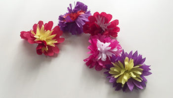 64 fantásticas ideas con Flores de papel de seda