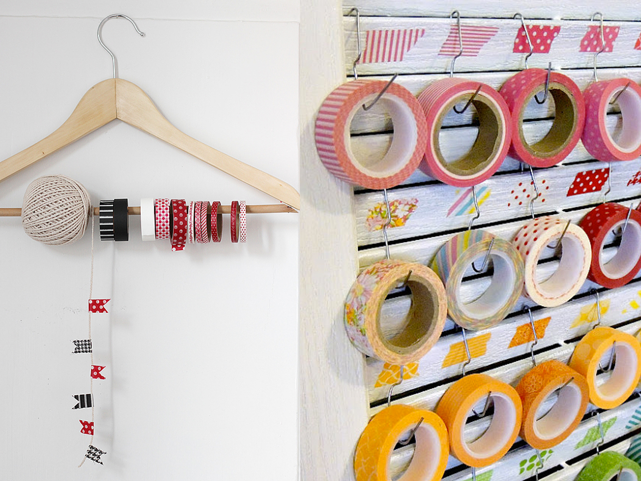 ideas de organizacion con washi tape