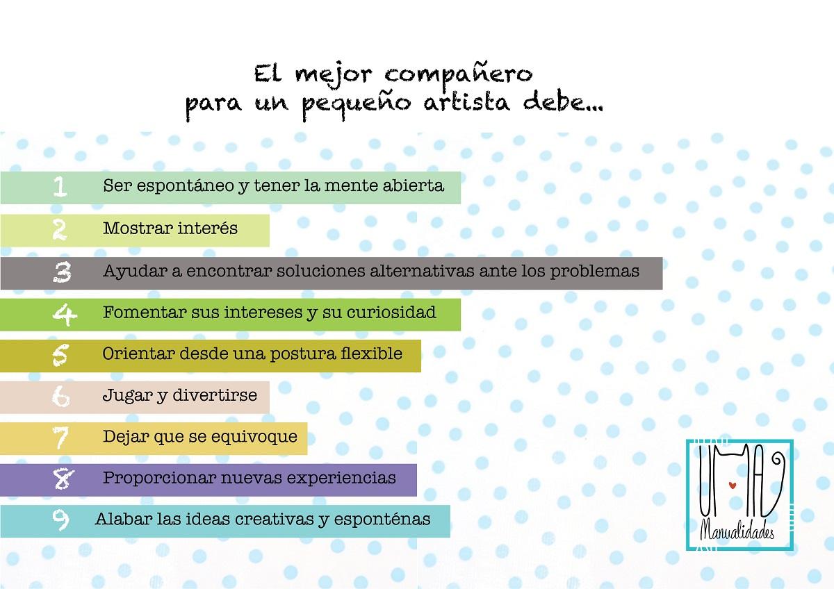 infografia de como motivar niños a hacer manualidades infantiles