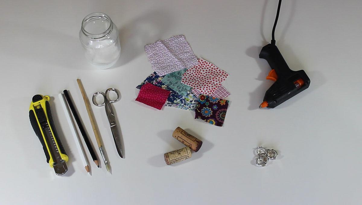 materiales anillos de corcho