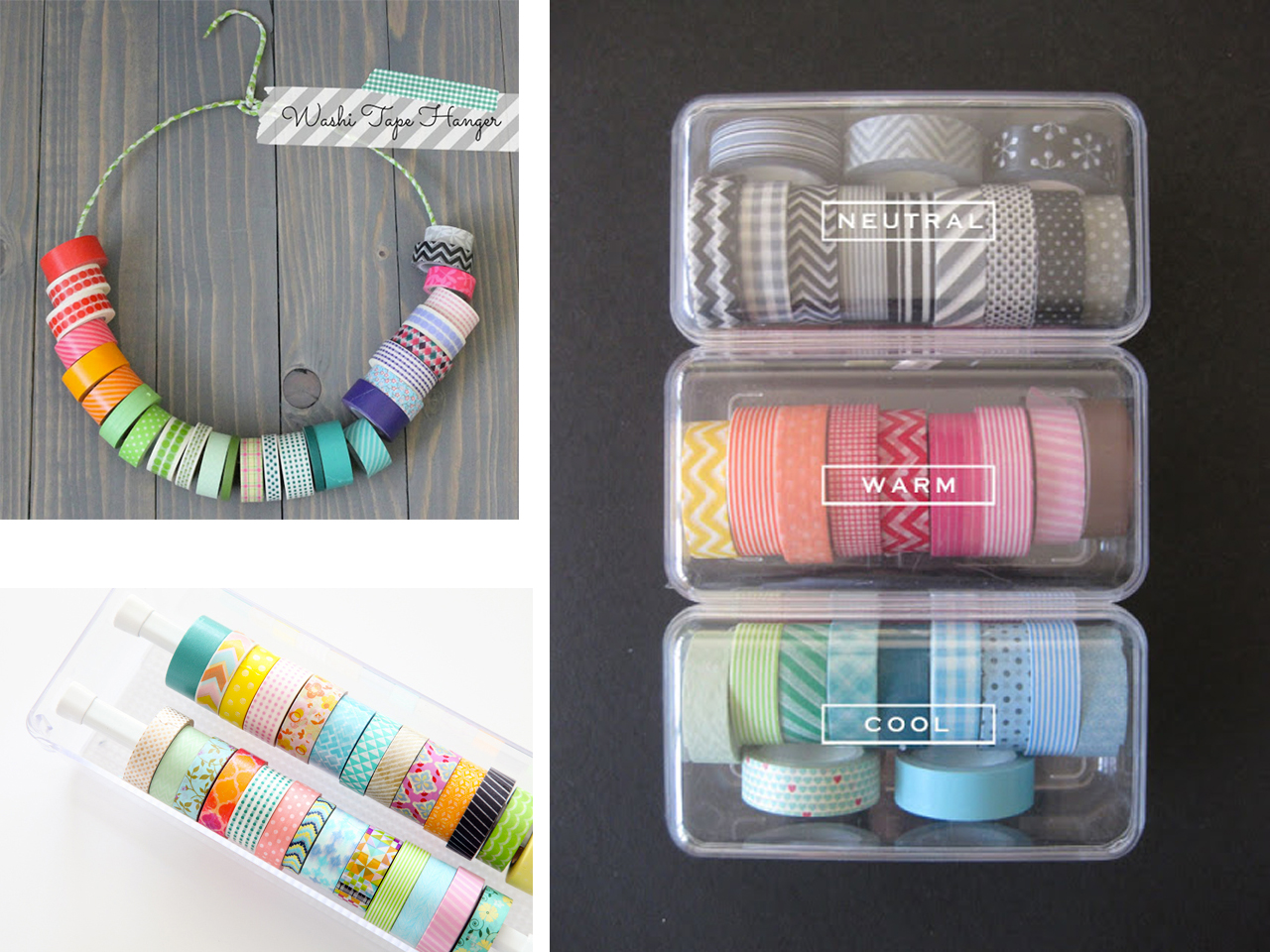Otras bonitas ideas para organizar washi tape