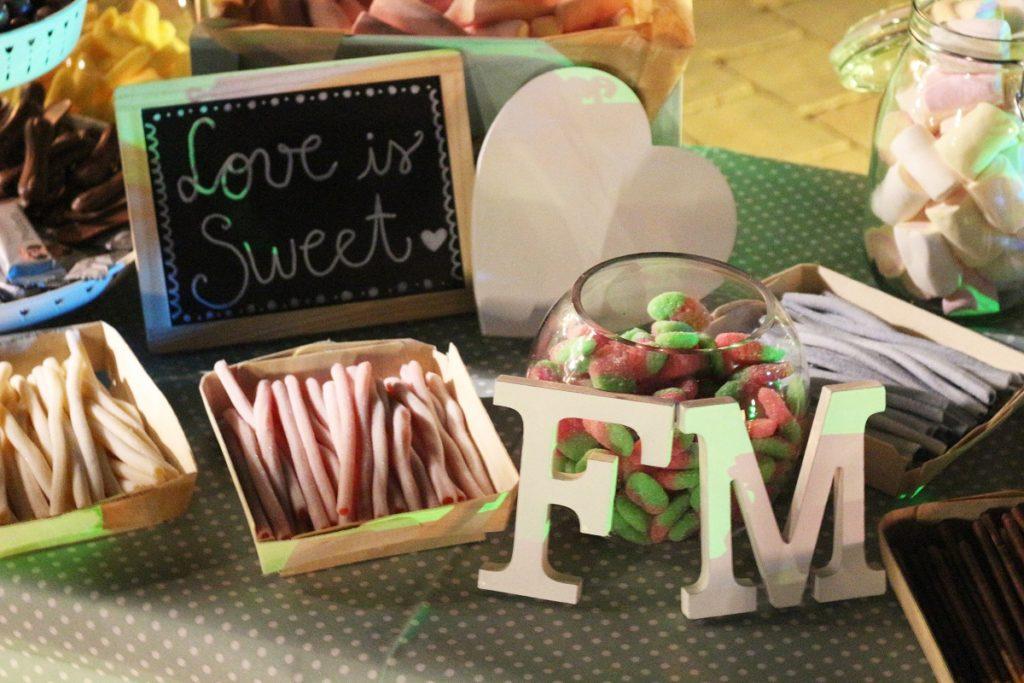 candy bar diy para bodas