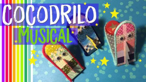 Manualidades de cocodrilos ¡¡Cocodrilos reciclados musicales!!