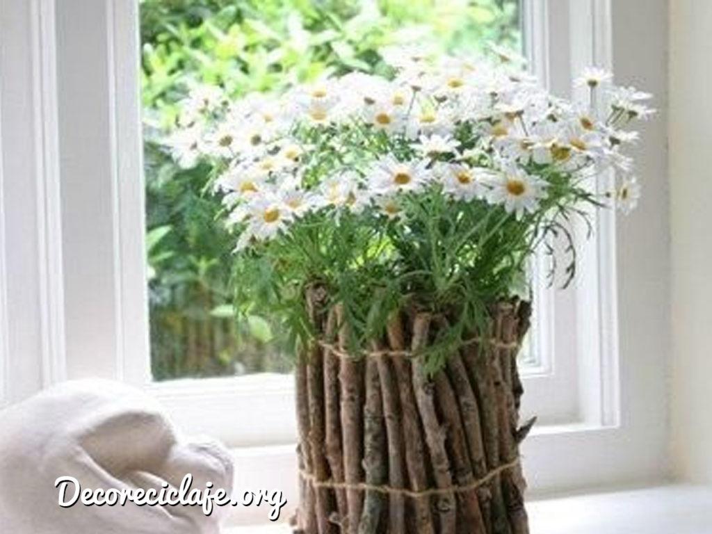 adornos reciclados para decorar la casa