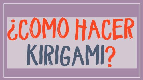¿Cómo hacer kirigami? Materiales y técnicas para hacer kirigami