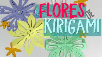 flor de papel de kirigami