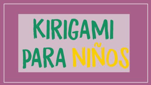 kirigami facil para niños