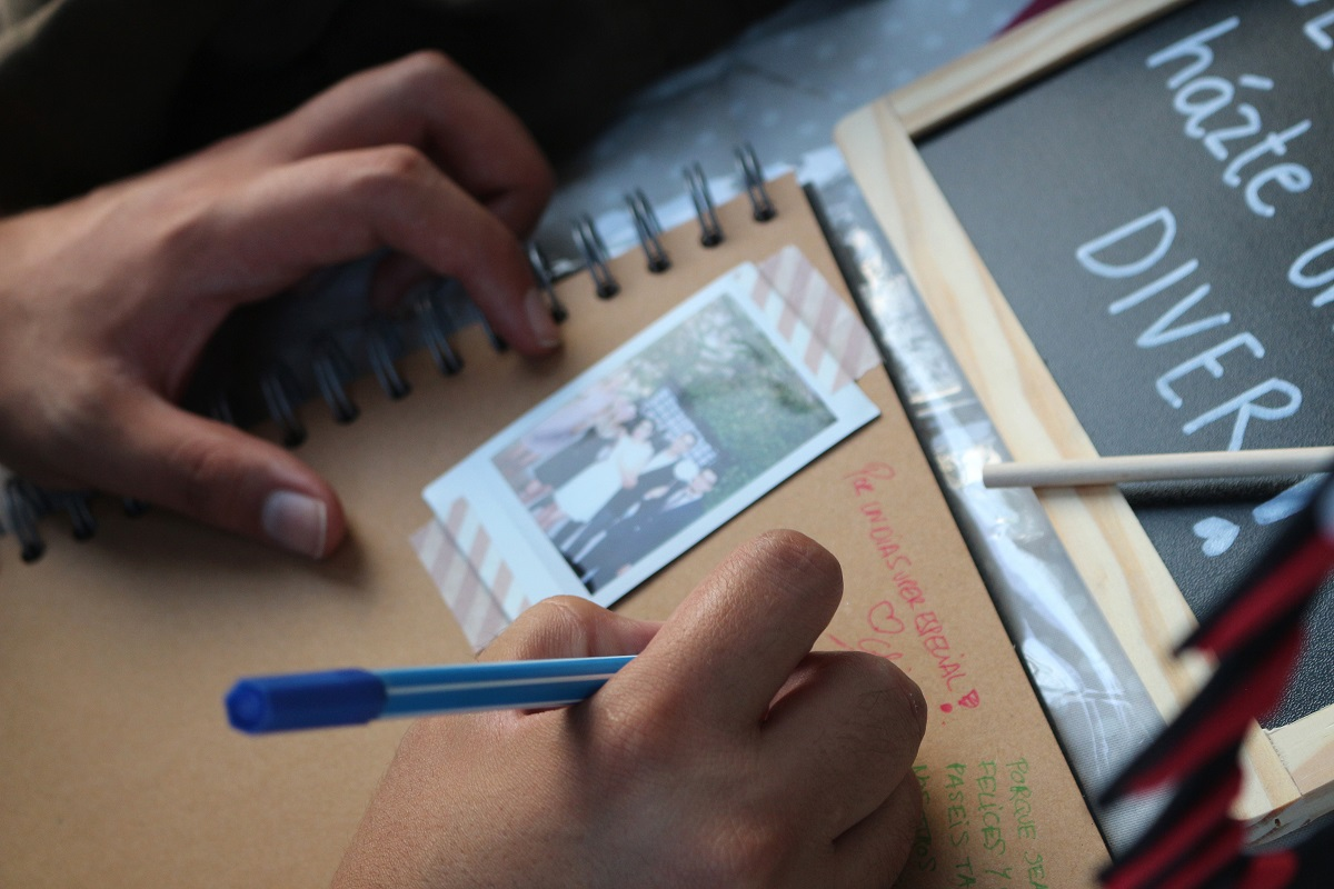 libro de firmas hecho a mano