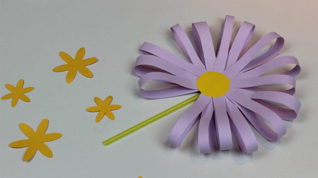 cómo hacer margaritas de papel