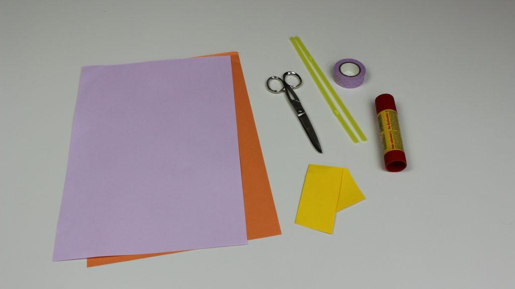 materiales para hacer nuestra margarita de papel