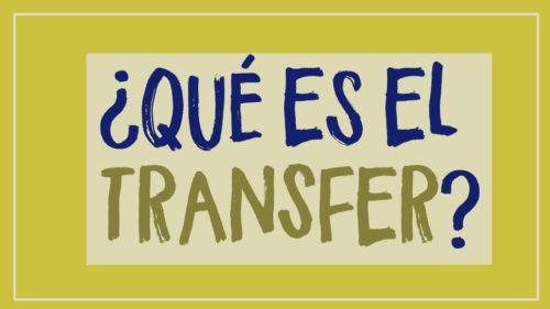 ¿Qué es transfer de Manualidades?