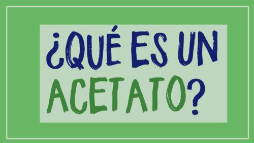 ¿Qué es un acetato? Cómo hacer manualidades con acetato