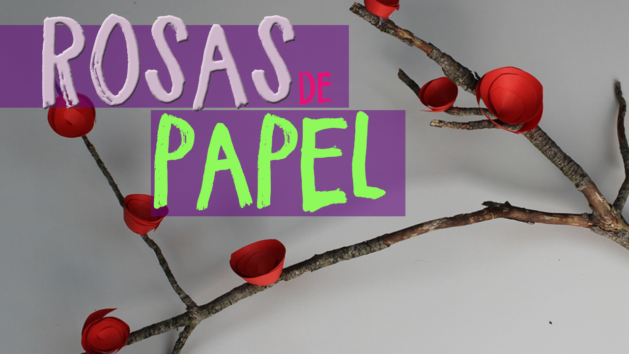cmo hacer rosas de papel uma manualidades - Hacer Rosas De Papel