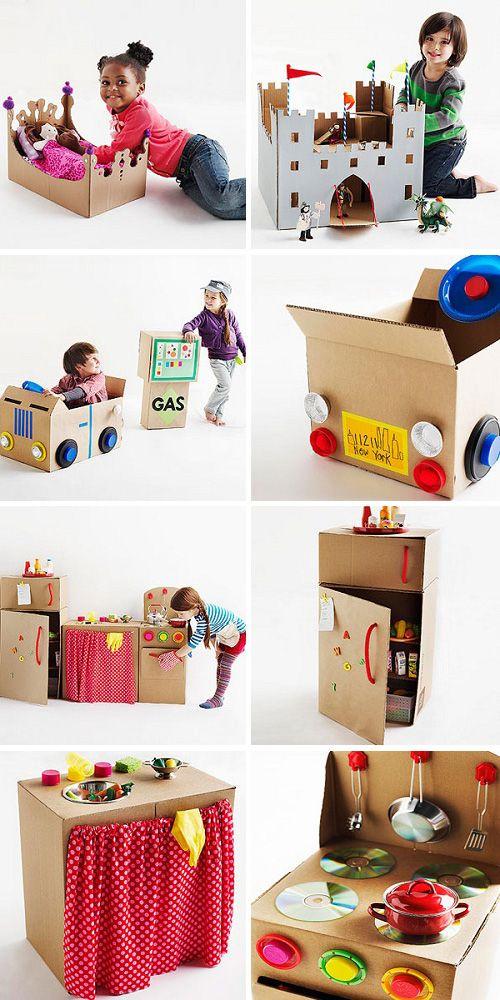 juguetes y manualidades cajas de carton