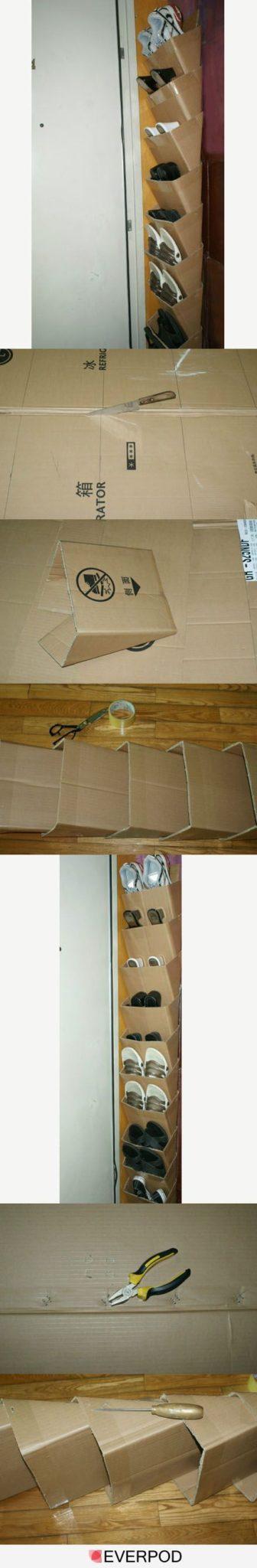 manualidades de cajas de carton organizadoras de zapatos