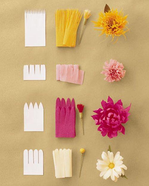 flores de papel sencillas para hacer con niños y decorar fiestas