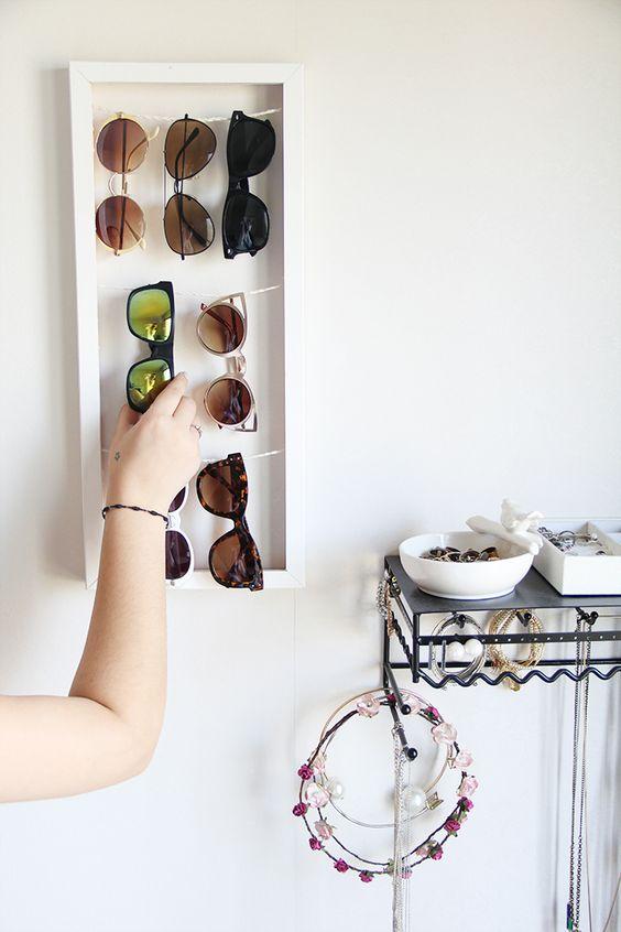 organizador de gafas reciclado para cuartos