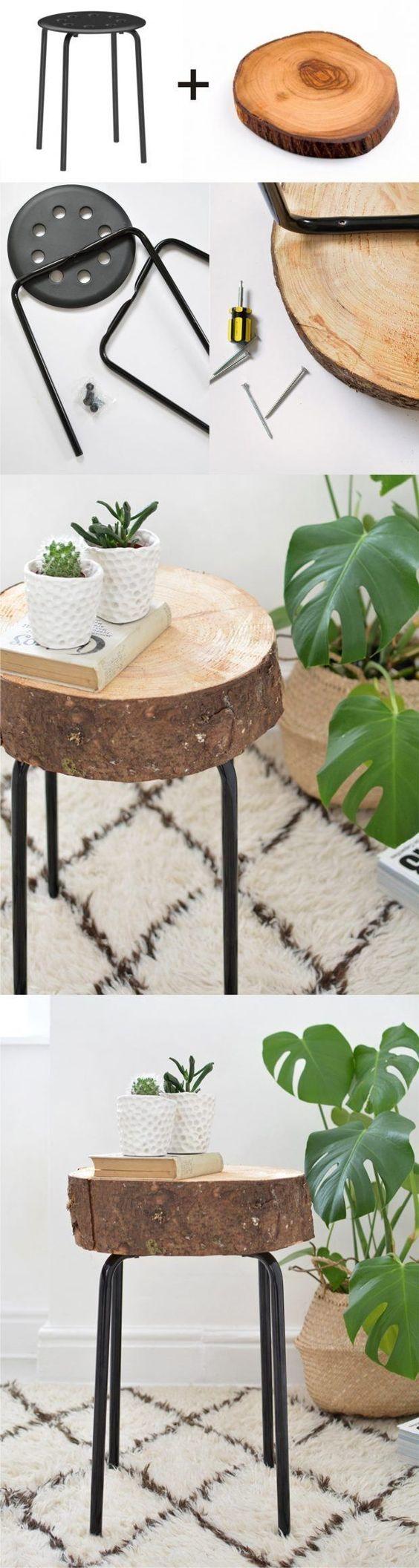 taburete de madera reciclado