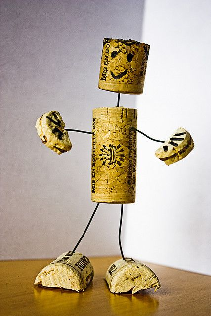Cork Man by marcmo on Flickr.