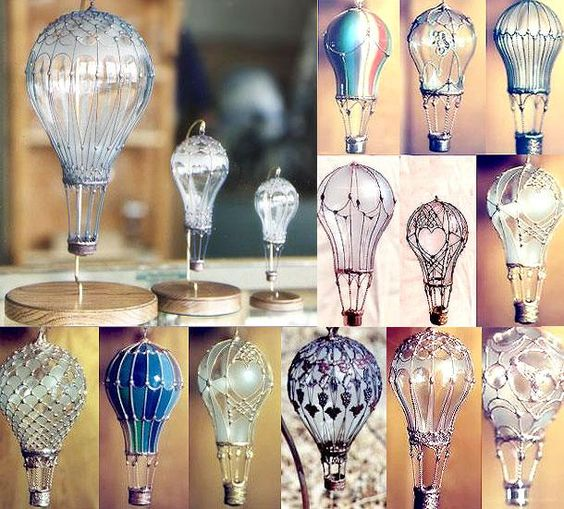 Ideas llenas de inspiración para decorar bombillas recicladas