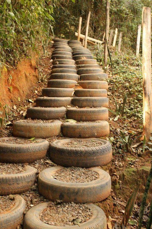 decoracion rustica reciclada con ruedas
