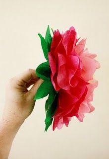 Flores de papel: