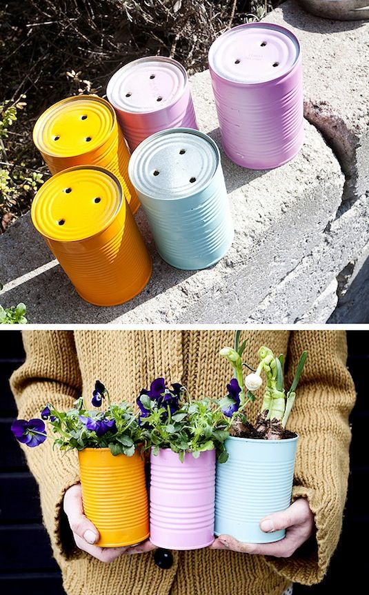 decorar tu jardin reciclando