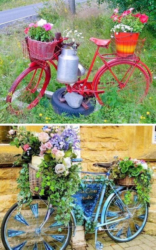 ideas decorar jardin reciclando