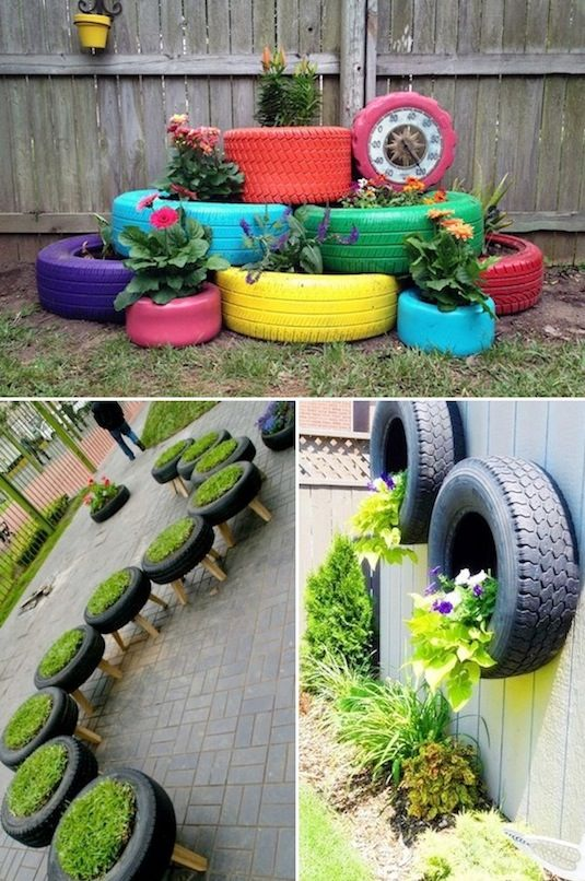 decorar un jardin reciclando