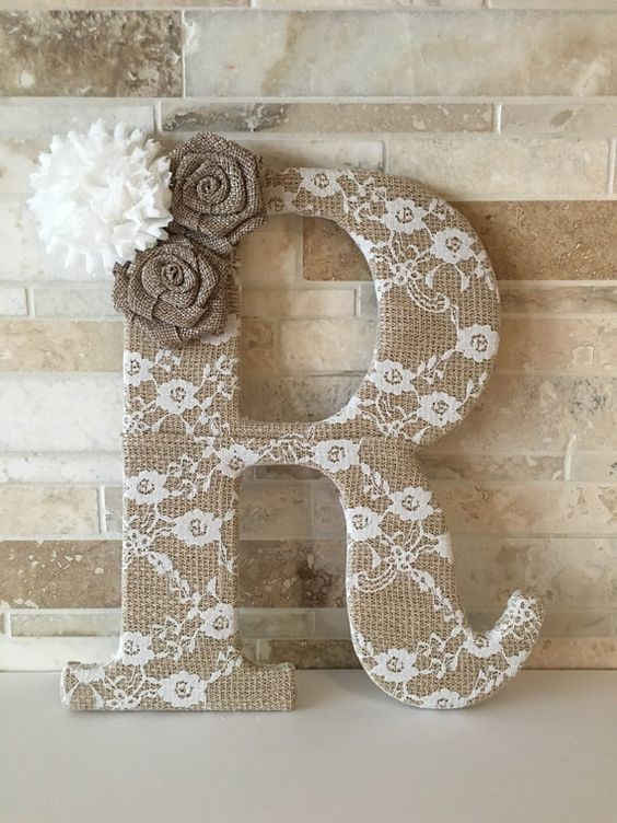 letras recicladas para decorar habitaciones