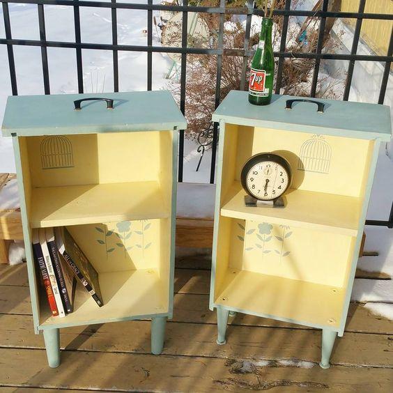 Decoración de muebles reciclados