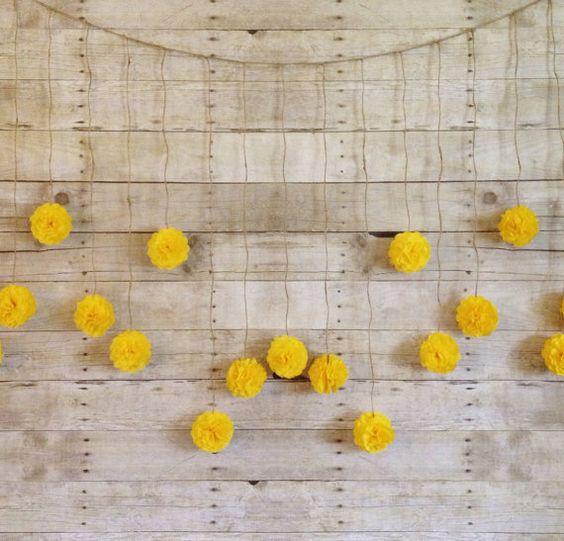 Flores papel cometa para colgar en la pared