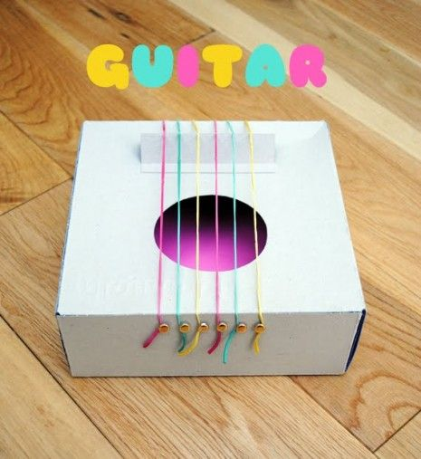cómo Hacer una guitarra casera con cajas de cartón de zapatos