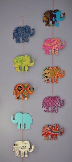 Elefantes de carton para decorar