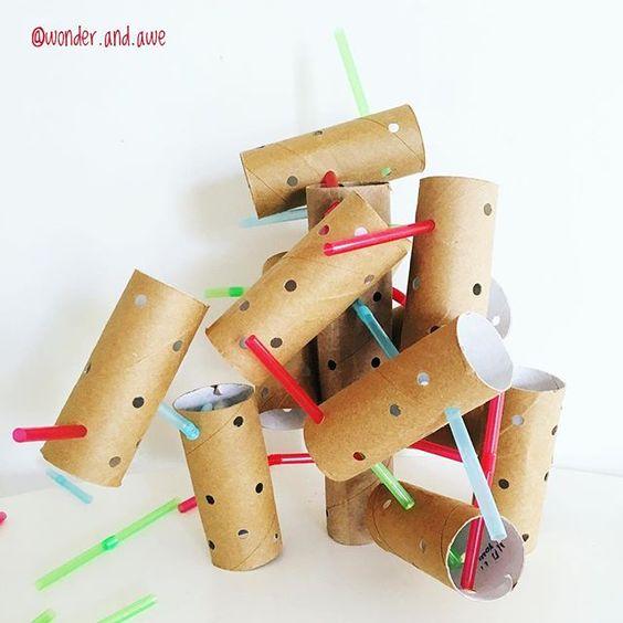manualidades con rollos de papel higienico para niños