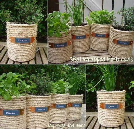 Low-budget and Easy Container Ideas For Herb Garden: