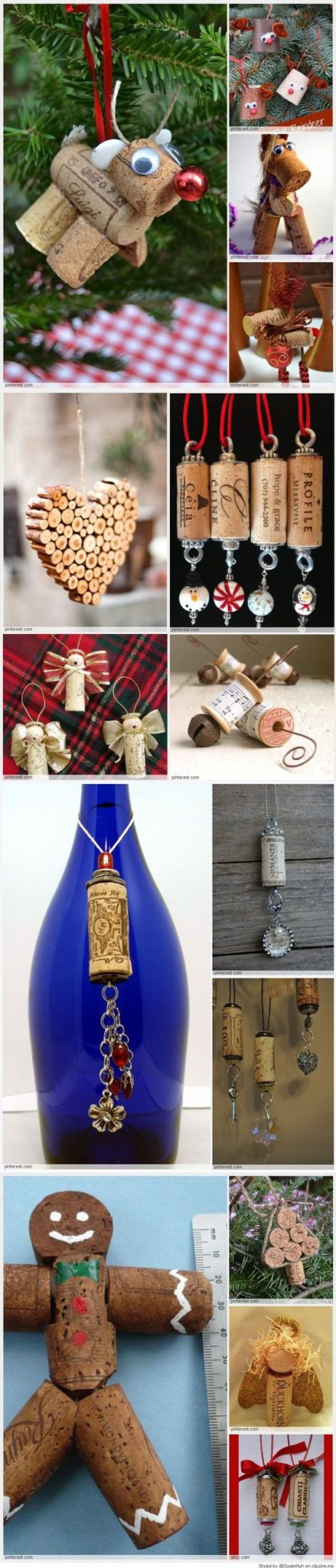 Easy Cork Christmas Ornaments