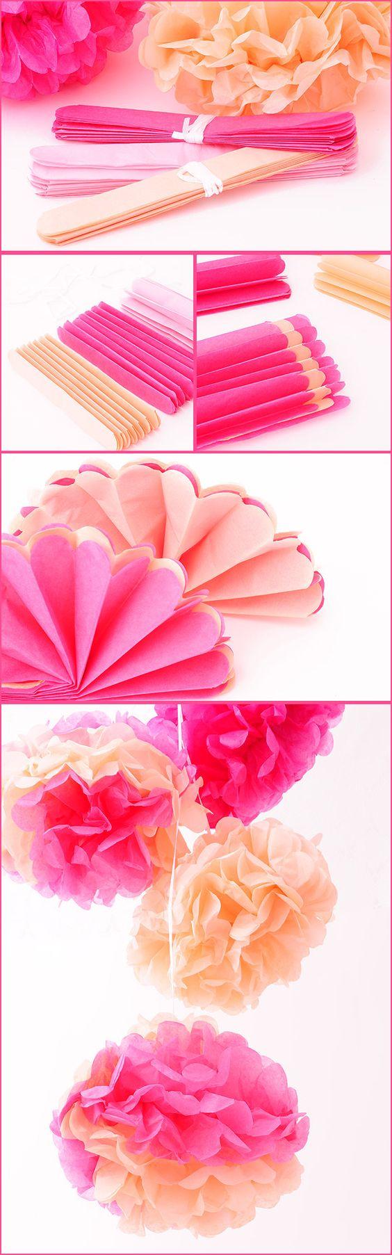 Flor de papel de Seda para niños