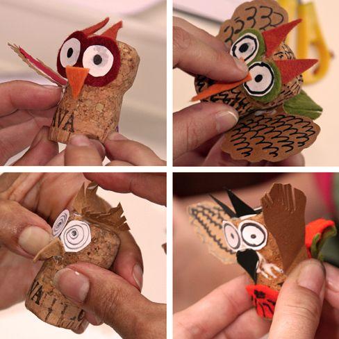 ¡Reutiliza los tapones de corcho de tus cavas y champagnes para crear divertidas figuras como ésta! #DIY #Niños #Corcho