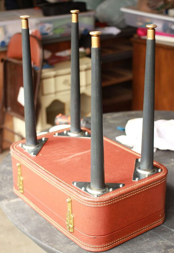 diy vintage suitcase table, chalk paint, diy, how to, painted furniture, repurposing upcycling: